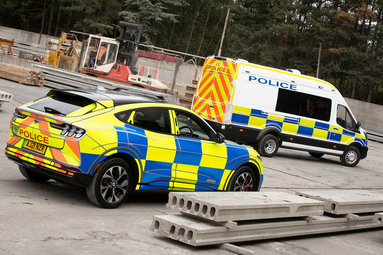 Полицейский Ford Mustang Mach-E в Великобритании
