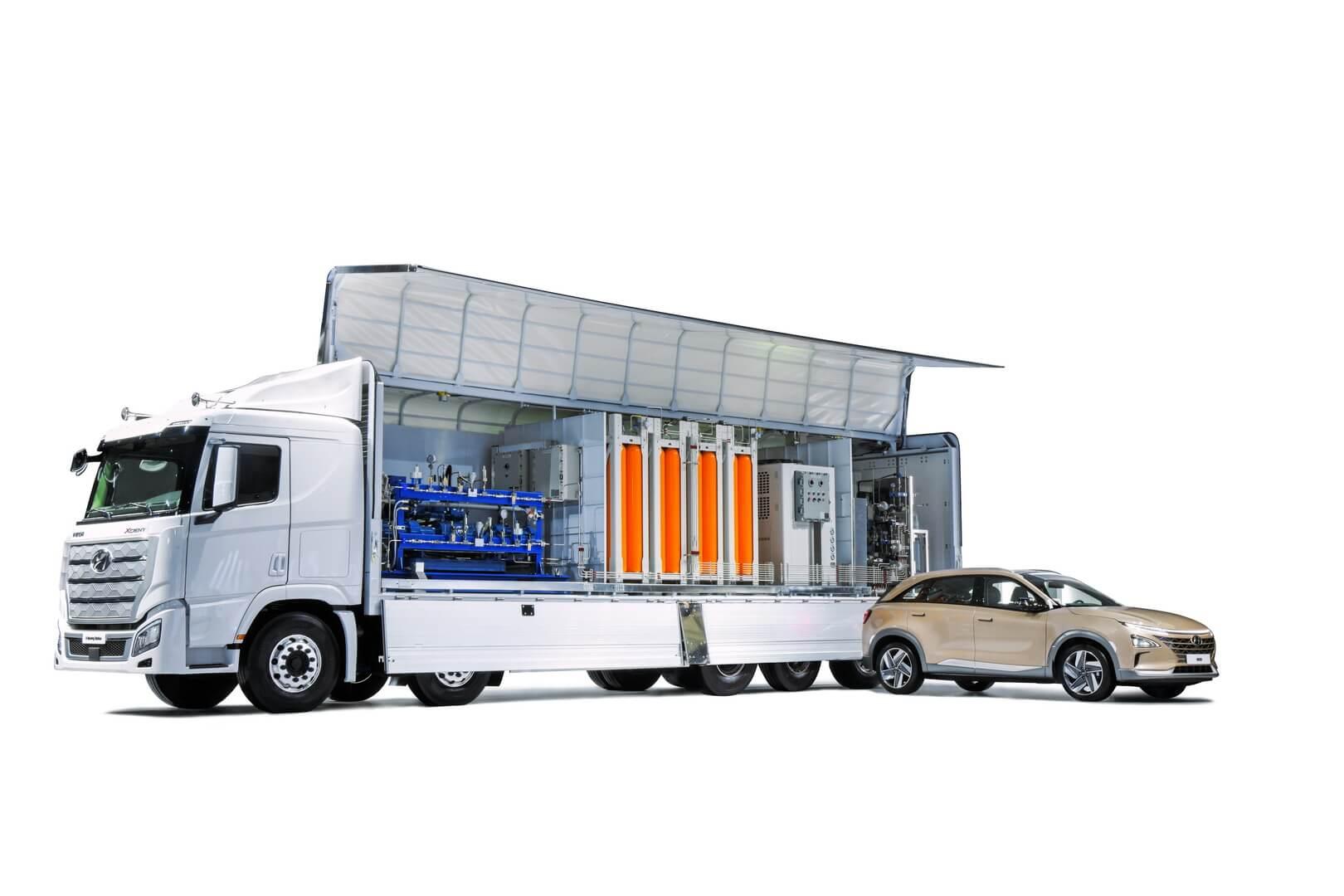 Спасательный автомобиль с водородным генератором