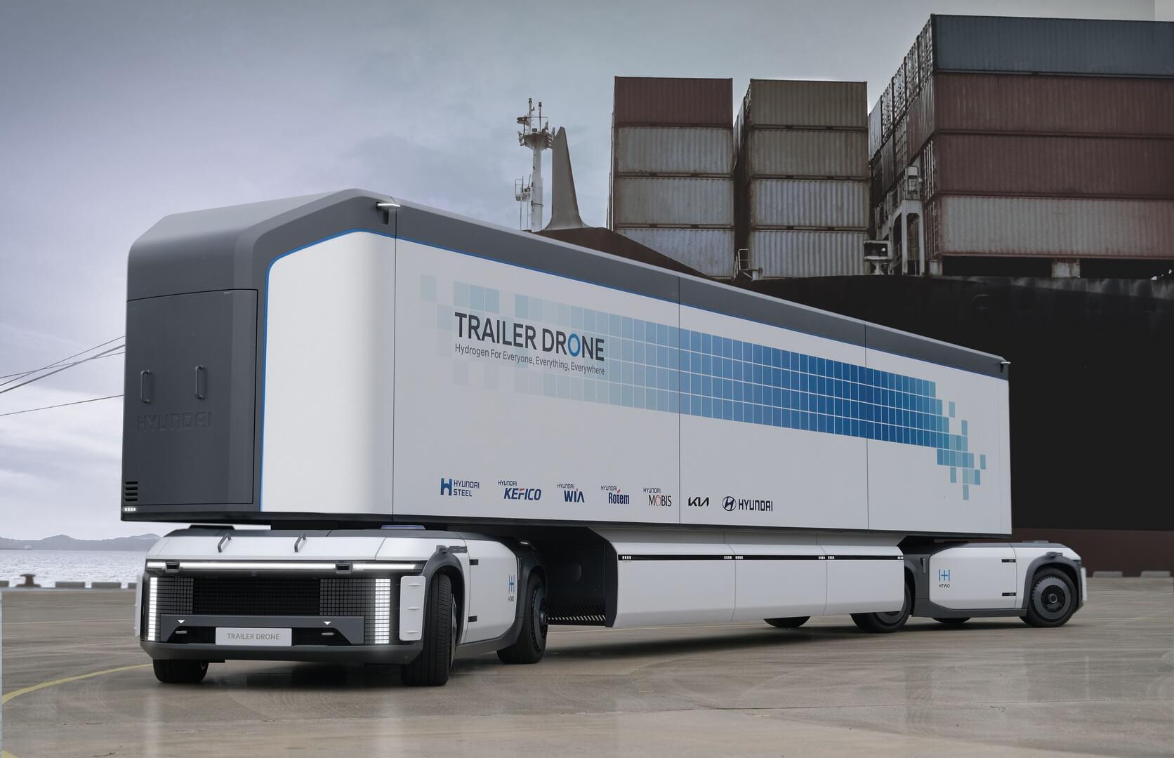 Концепция беспилотных контейнерных перевозок Trailer Drone