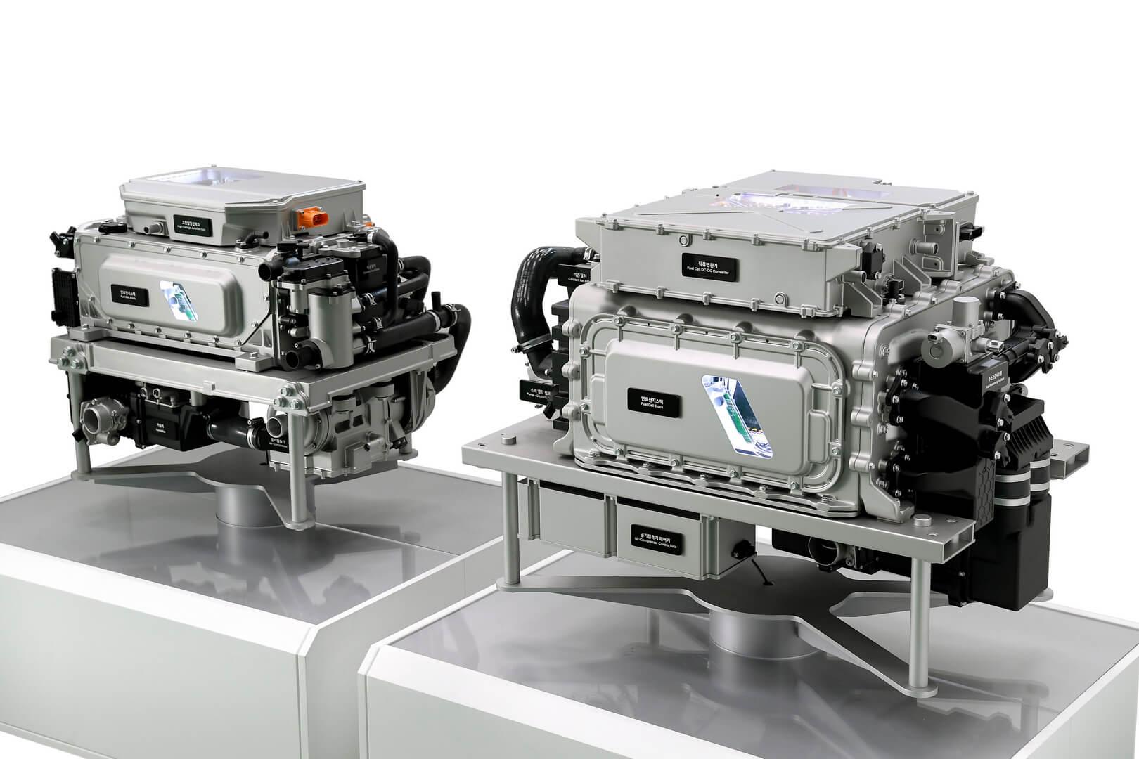 Топливные элементы Hyundai третьего поколения выпускаются в вариантах мощностью 100 и 200 кВт, каждый из которых имеет свои преимущества
