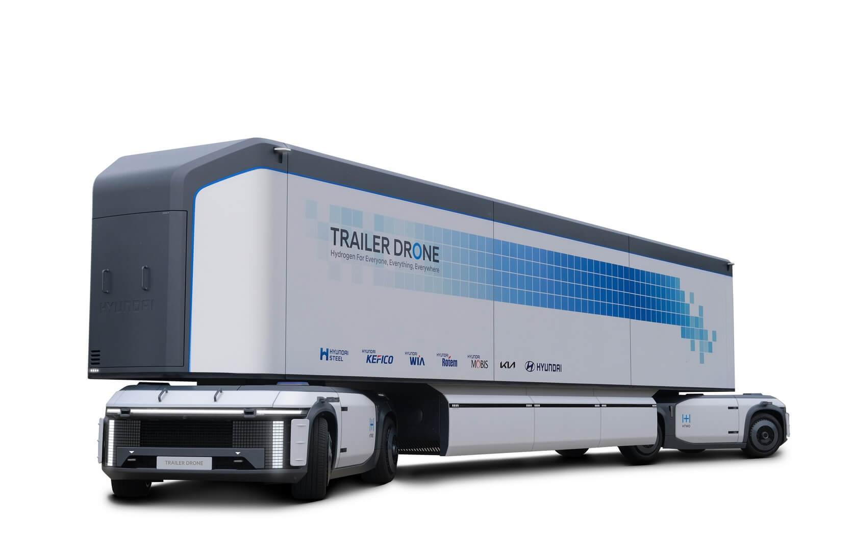 Концепция Trailer Drone — водородная контейнерная транспортная система, способная работать полностью автономно