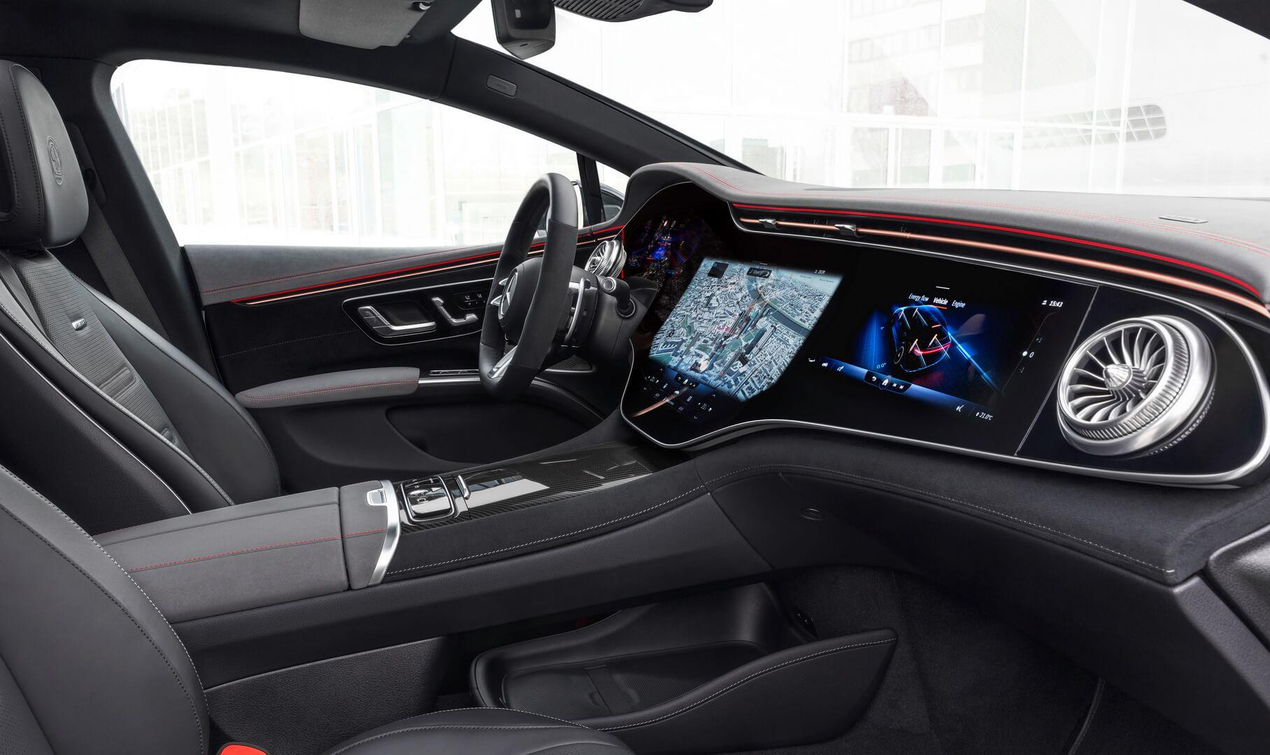 Интерьер нового электромобиля Mercedes-AMG EQS 53 4MATIC+