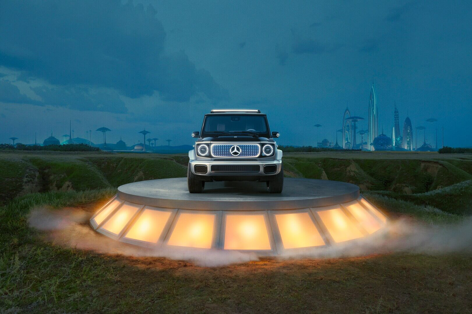 С концептом EQG легендарный Mercedes G-Class стал электрическим