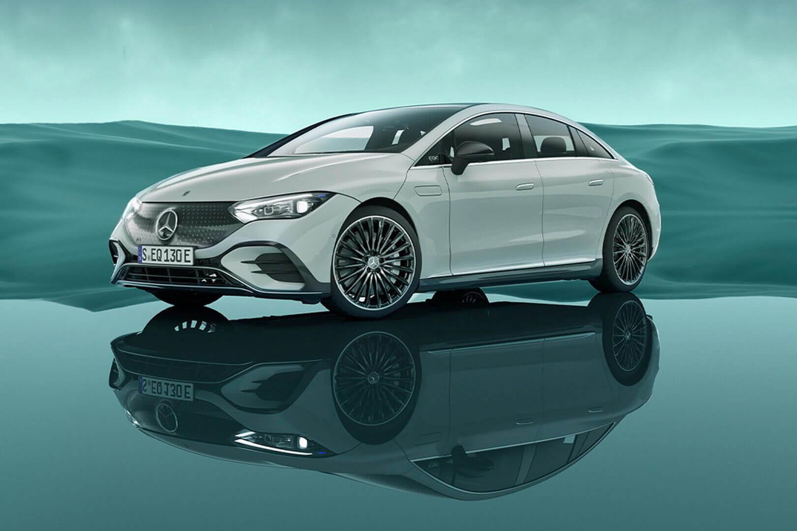 Mercedes-Benz EQE более компактный, чем EQS