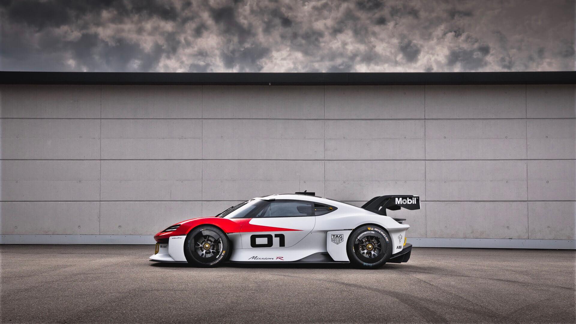 Porsche представляет потрясающий электрический спорткар Mission R