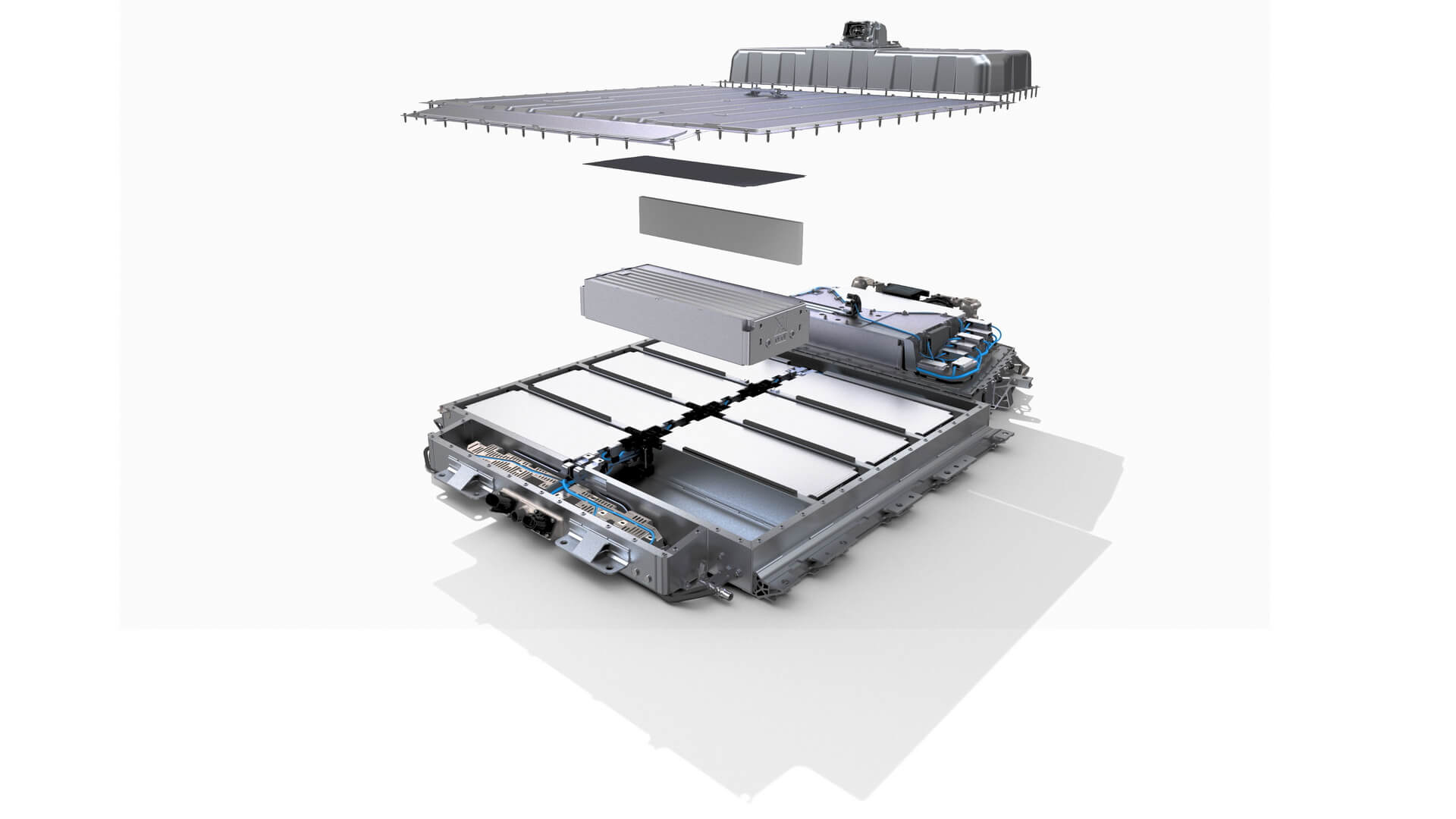 Конуструкция тонкой аккумуляторной батареи Renault Megane E-Tech Electric