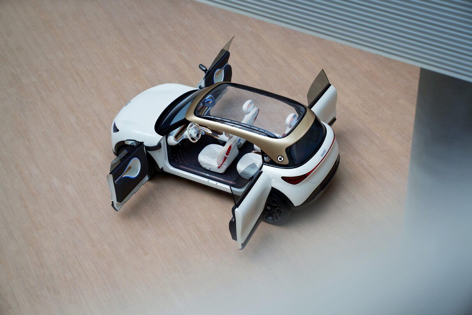 Задние двери Smart Concept №1 открываются в направлении, противоположном передним