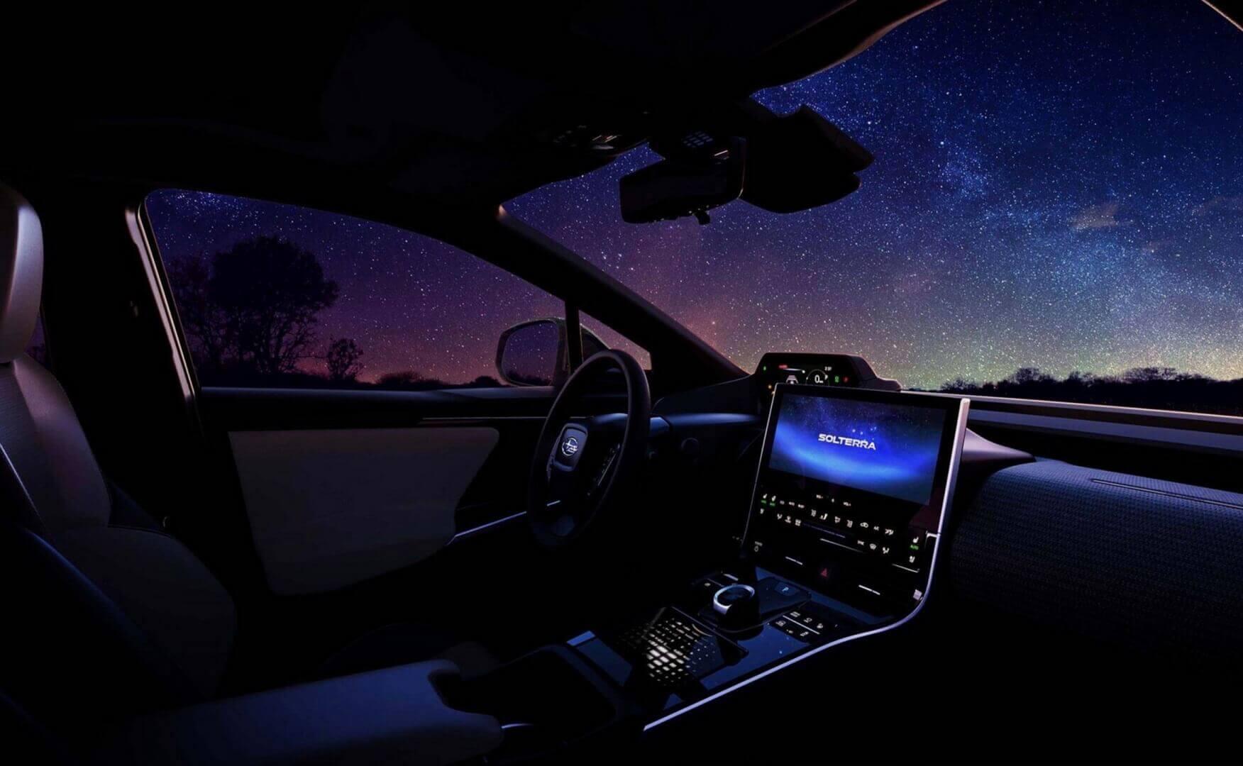 Интерьер электрического внедорожника Subaru Solterra