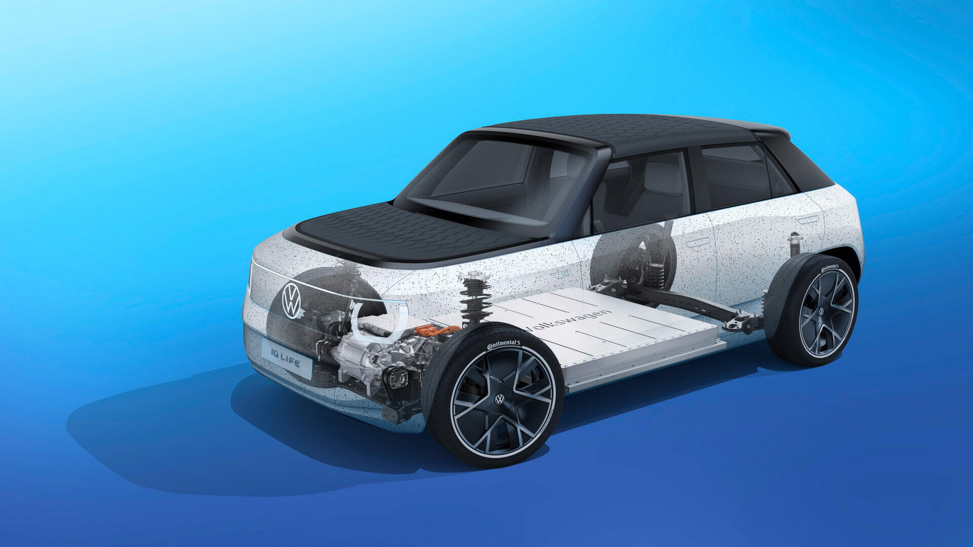 ID. LIFE основан наукороченной платформе Volkswagen MEB