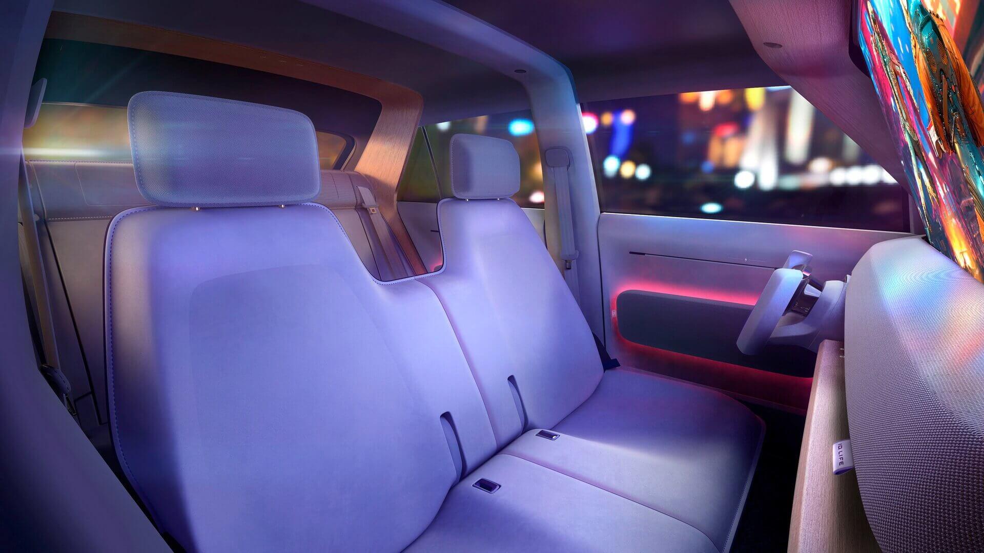 Volkswagen оснастил ID.LIFE гибкой компоновкой сидений