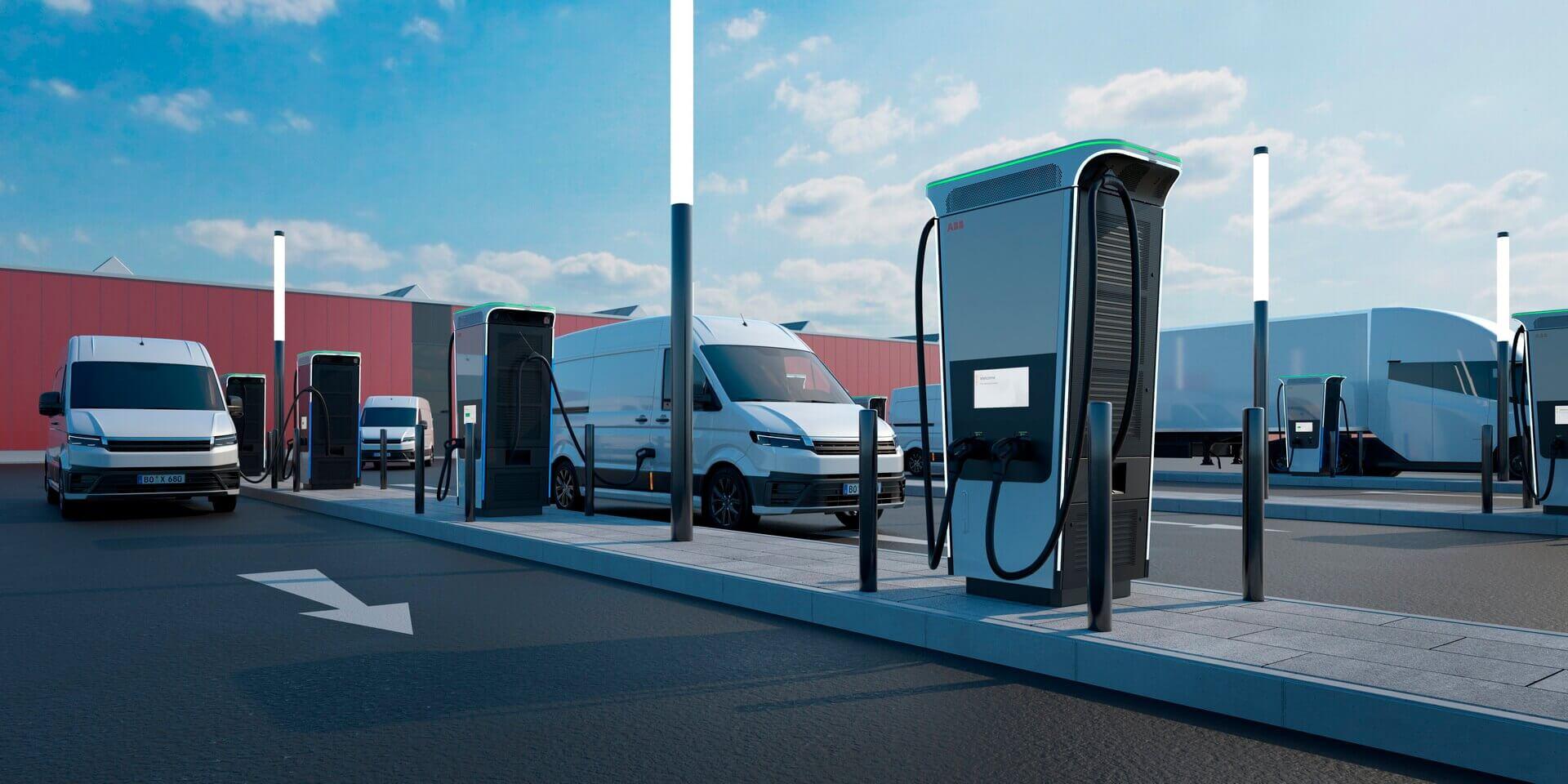 Зарядные станции Terra 360 можно рассматривать для организации зарядки парков коммерческих электромобилей, например фургонов, грузовиков, такси икаршеринга