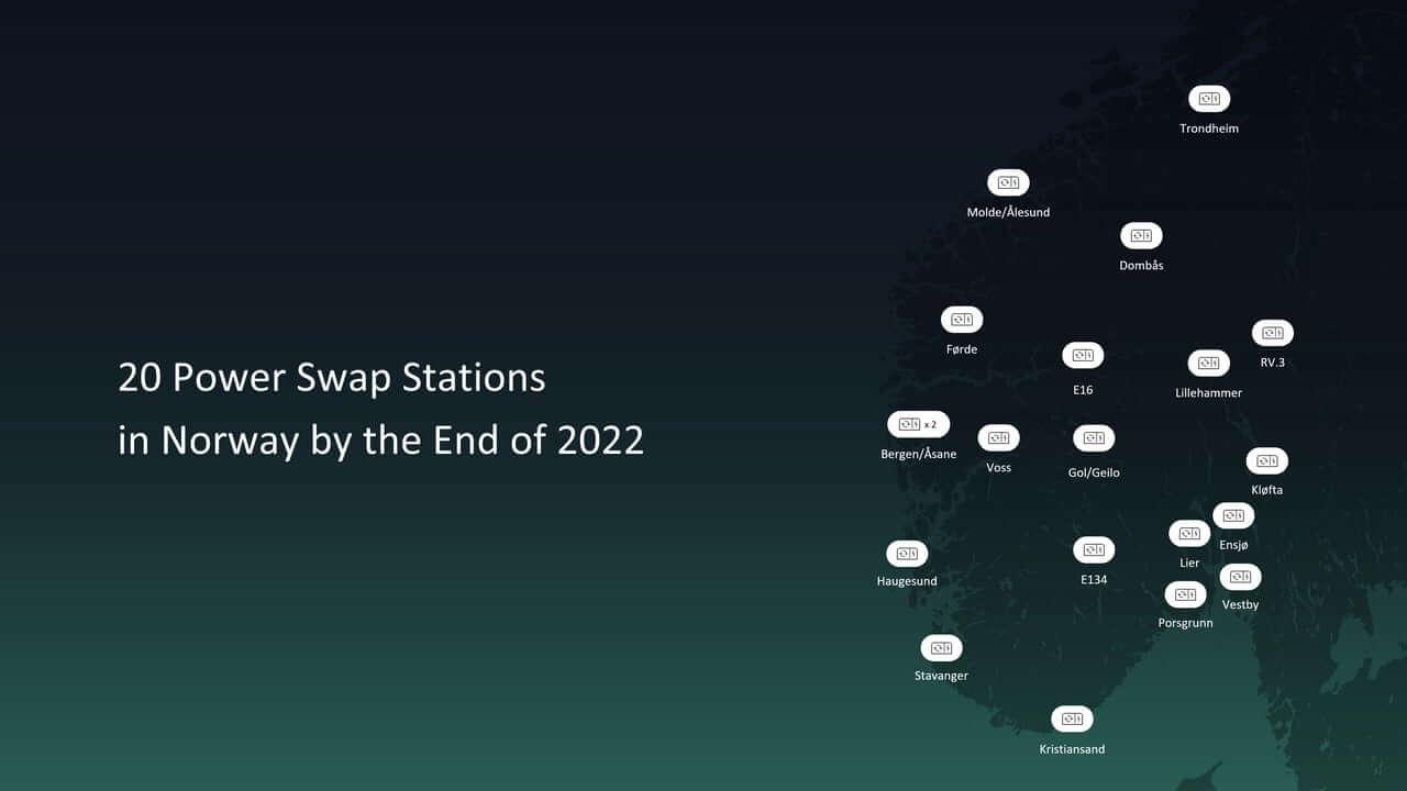 Кконцу 2022 года NIO построит вНорвегии 20станций Power Swap