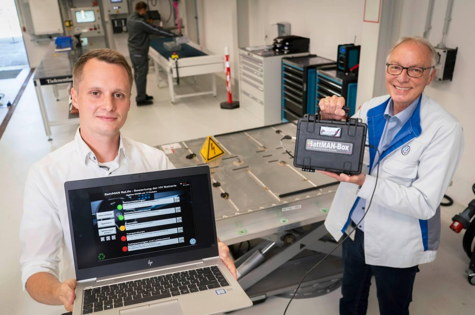 BattMan ReLife оценивает состояние батареи электромобиля засчитанные минуты