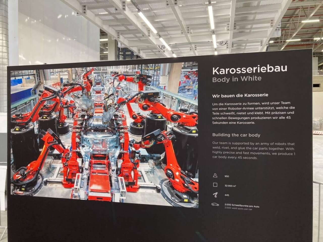 Первая цель Tesla Giga Berlin— производить поодному кузову Model Yкаждые 45секунд