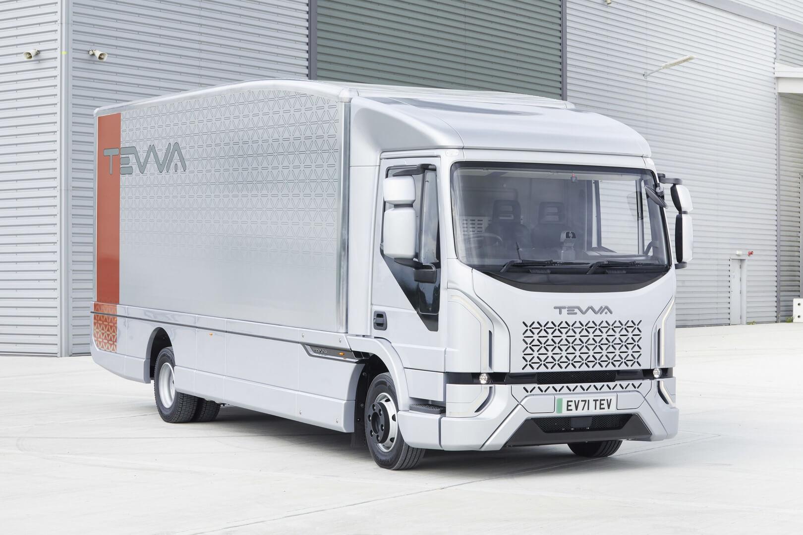 Tevva представила 7,5-тонный электрический грузовик в Великобритании