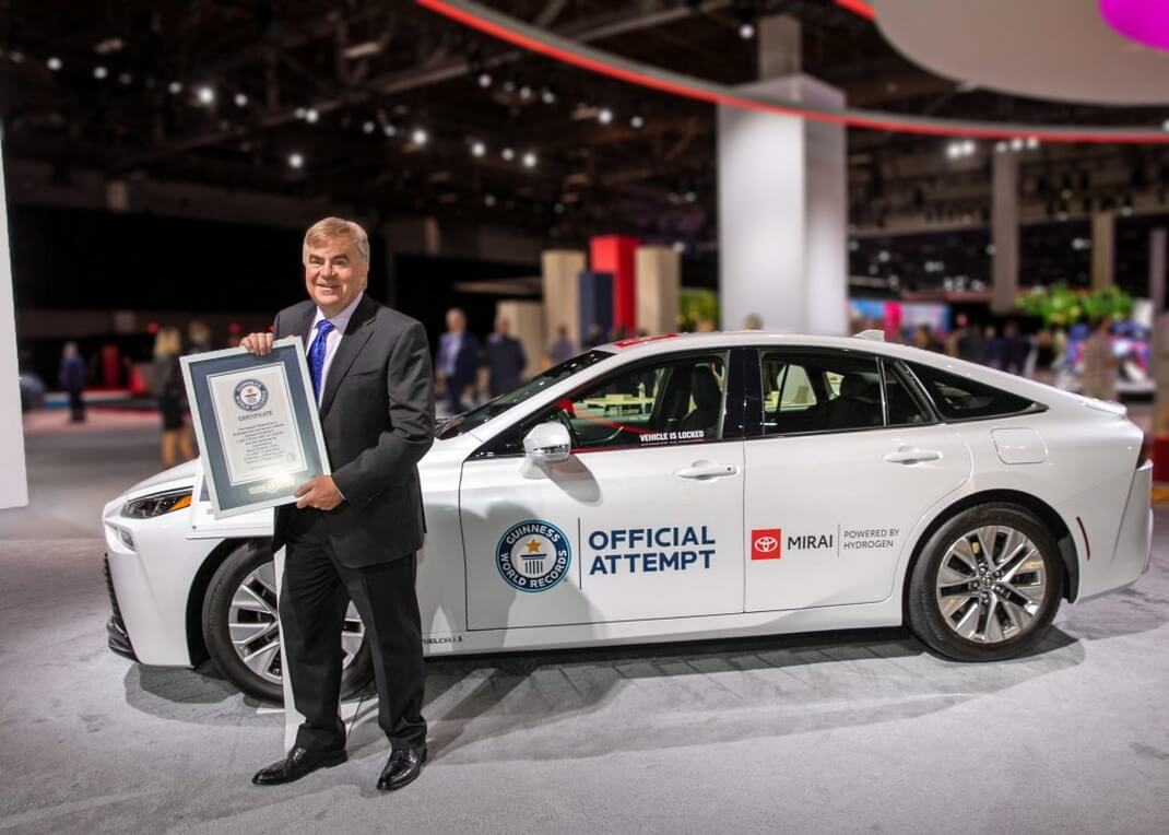 Toyota Mirai установила «водородный» рекорд