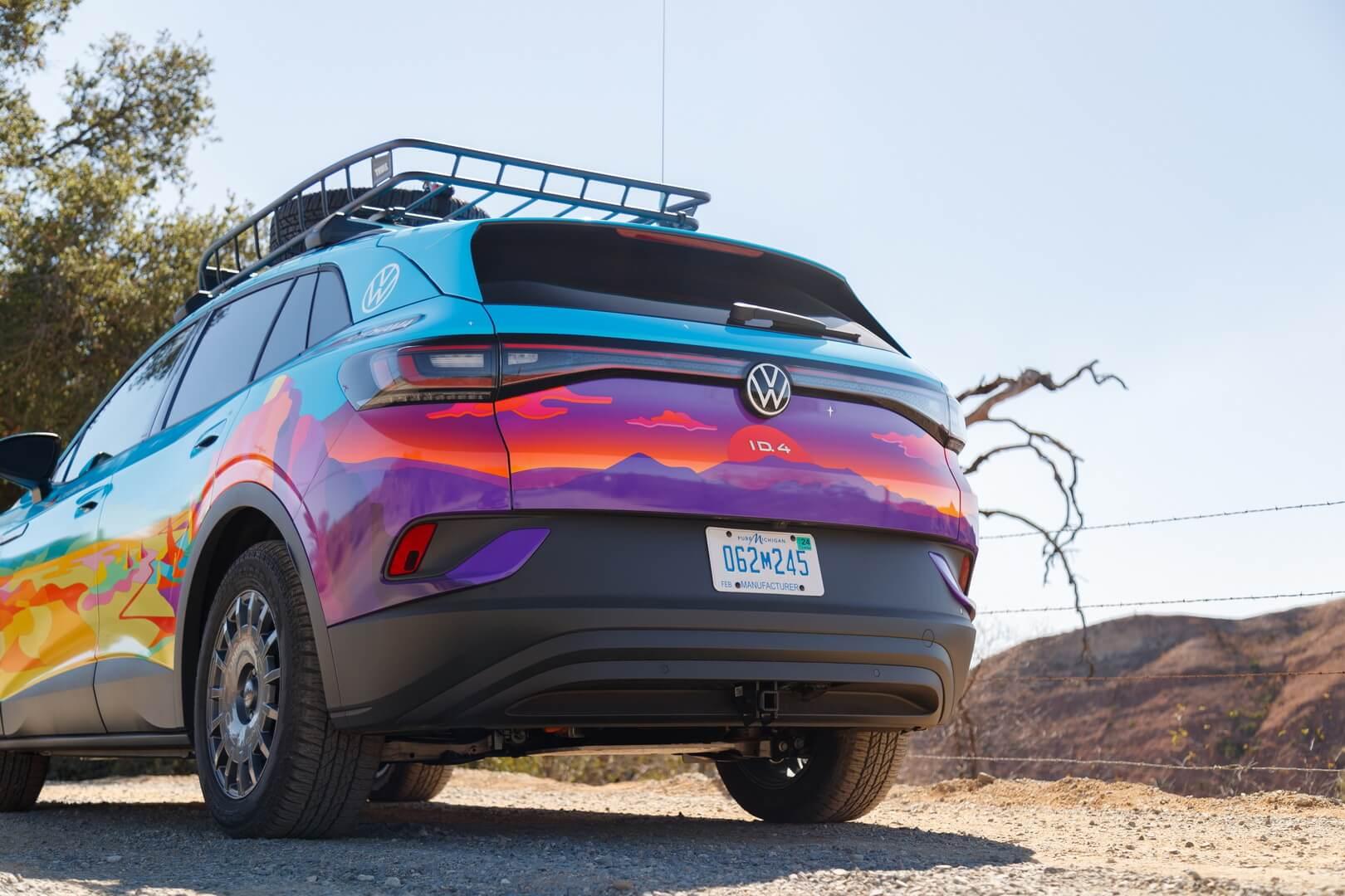 Первый выход полностью электрического Volkswagen ID.4 AWD на соревнования по бездорожью